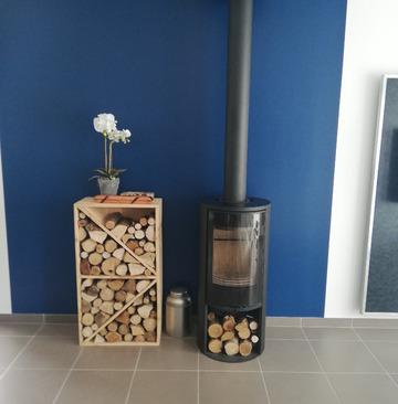 CHAUFFER JUSTE Contura 510 G Style - Création, installation et raccordement sur souche Poujoulat de ce poêle à bois à St Germain du Puch